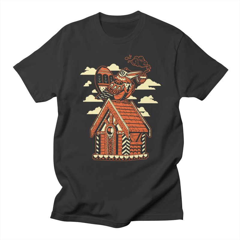 THE CRIMSON BIRDHOUSE Men's T-Shirt by Baron Wolf Creative