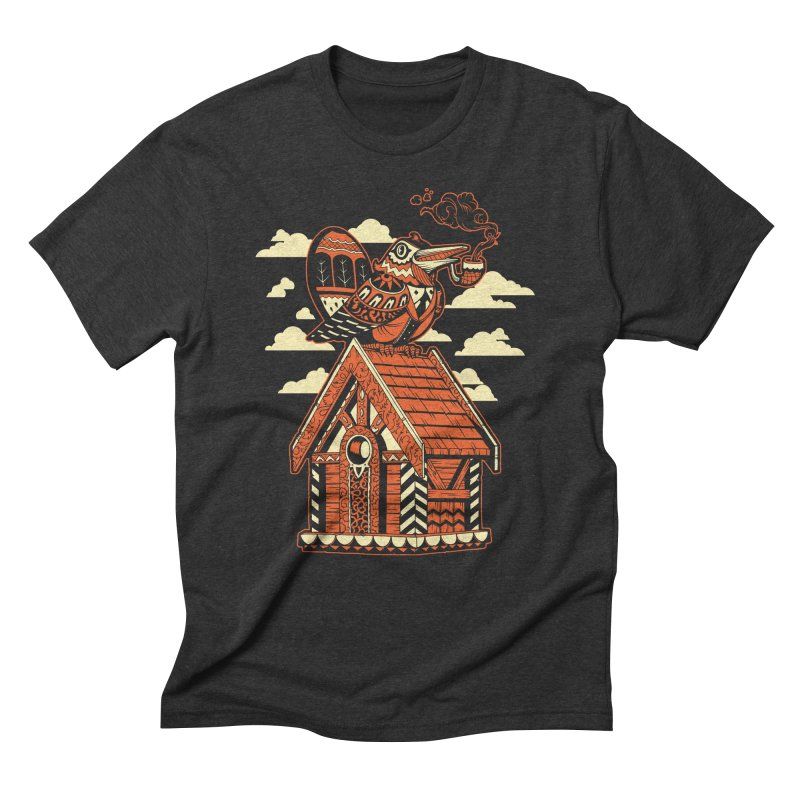 THE CRIMSON BIRDHOUSE Men's Triblend T-Shirt by Baron Wolf Creative