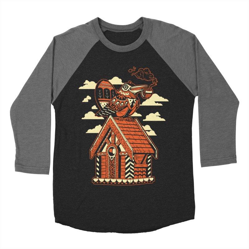 THE CRIMSON BIRDHOUSE Women's Baseball Triblend T-Shirt by Baron Wolf Creative