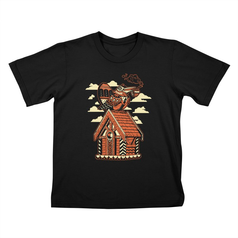 THE CRIMSON BIRDHOUSE Kids T-shirt by Baron Wolf Creative