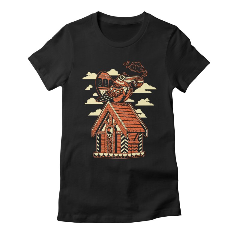 THE CRIMSON BIRDHOUSE Women's Fitted T-Shirt by Baron Wolf Creative