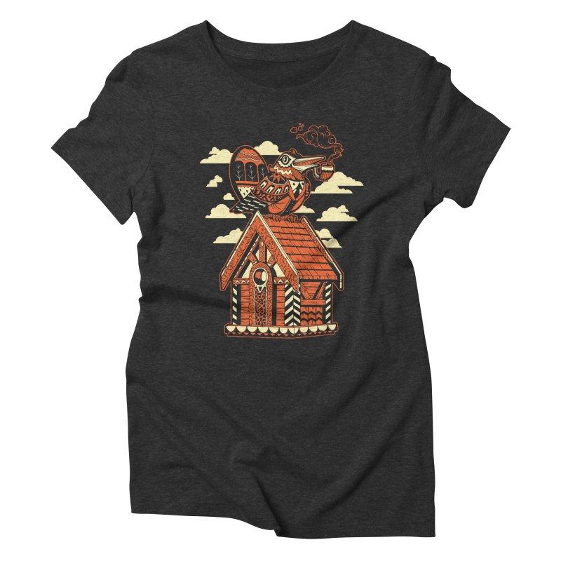 THE CRIMSON BIRDHOUSE Women's Triblend T-shirt by Baron Wolf Creative