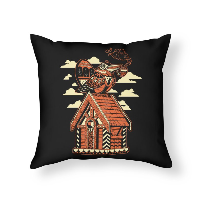 THE CRIMSON BIRDHOUSE Home Throw Pillow by Baron Wolf Creative