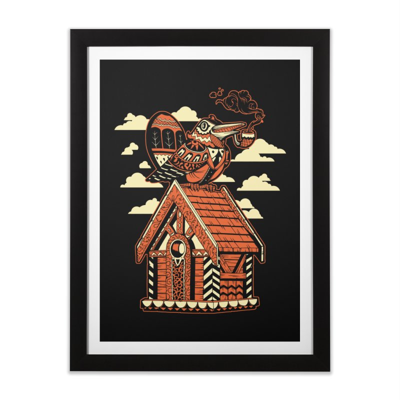 THE CRIMSON BIRDHOUSE Home Framed Fine Art Print by Baron Wolf Creative