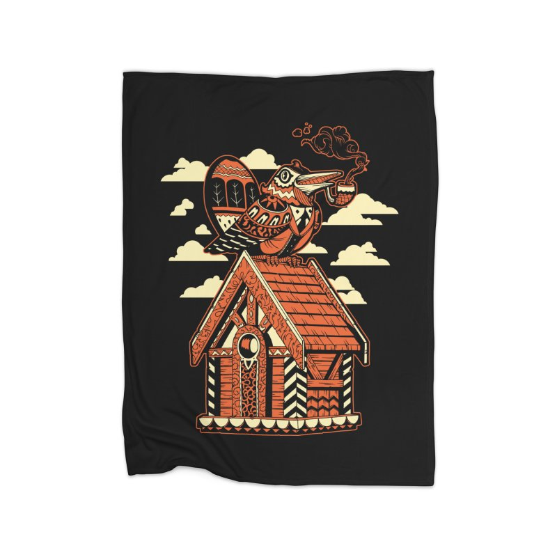 THE CRIMSON BIRDHOUSE Home Blanket by Baron Wolf Creative