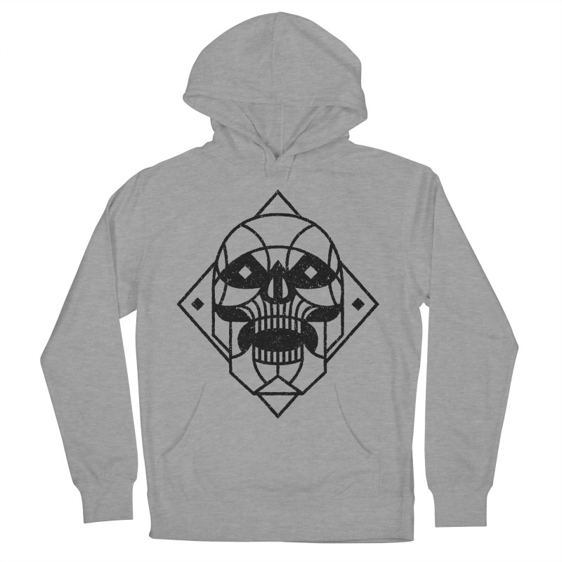 MINIMAL SKULL Men's French Terry Pullover Hoody by Baron Wolf Creative