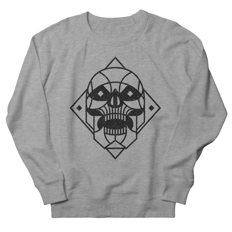 MINIMAL SKULL Men's Sweatshirt by Baron Wolf Creative