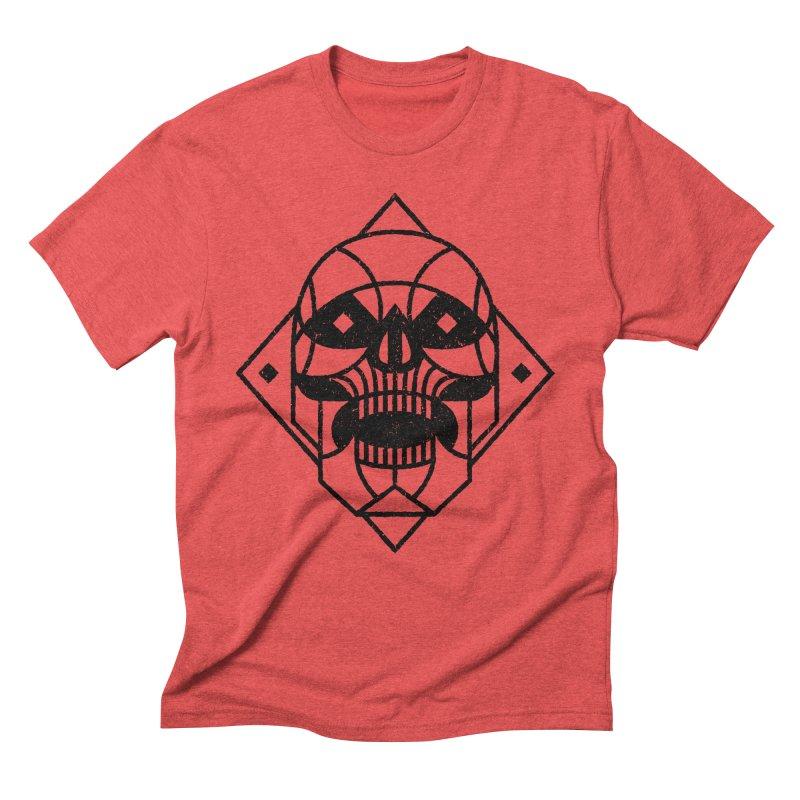MINIMAL SKULL Men's Triblend T-Shirt by Baron Wolf Creative