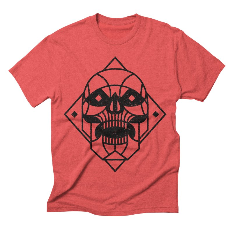 MINIMAL SKULL Men's Triblend T-shirt by Baron Wolf Creative