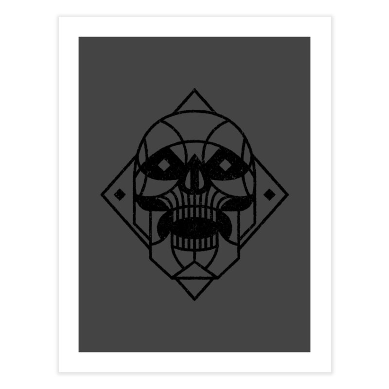 MINIMAL SKULL Home Fine Art Print by Baron Wolf Creative