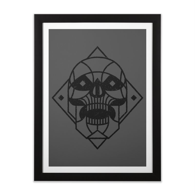 MINIMAL SKULL Home Framed Fine Art Print by Baron Wolf Creative