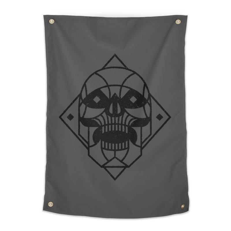 MINIMAL SKULL Home Tapestry by Baron Wolf Creative