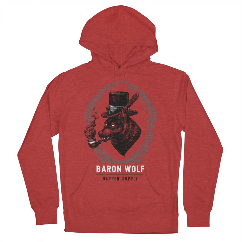 BARON WOLF DAPPER SUPPLY Men's French Terry Pullover Hoody by Baron Wolf Creative