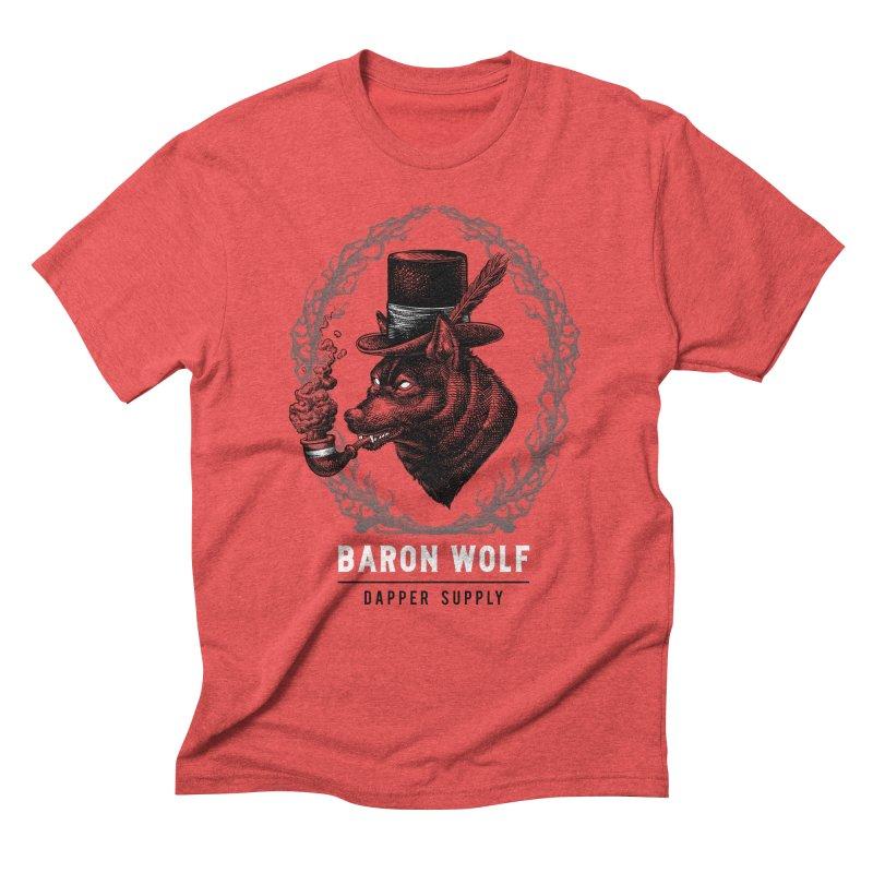 BARON WOLF DAPPER SUPPLY Men's Triblend T-shirt by Baron Wolf Creative