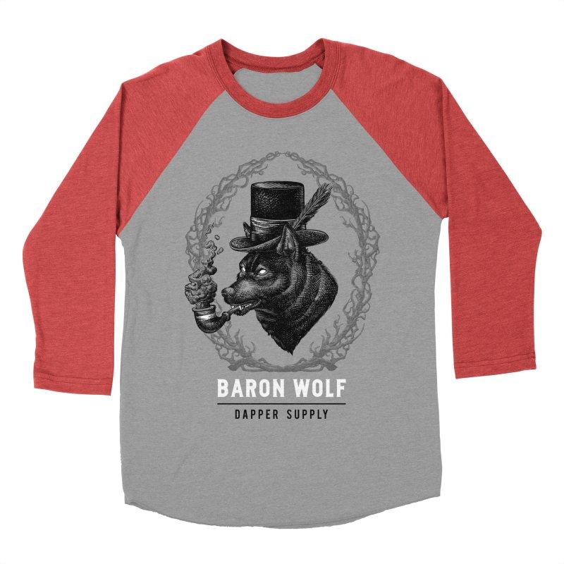 BARON WOLF DAPPER SUPPLY Women's Baseball Triblend T-Shirt by Baron Wolf Creative