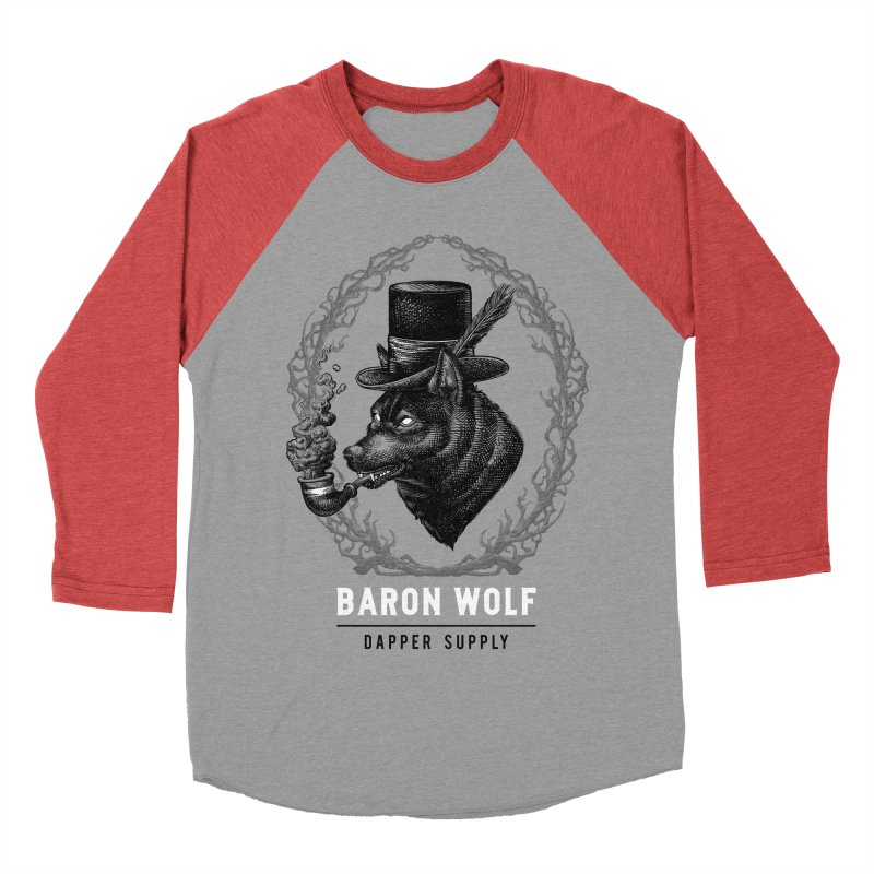 BARON WOLF DAPPER SUPPLY Men's Baseball Triblend T-Shirt by Baron Wolf Creative