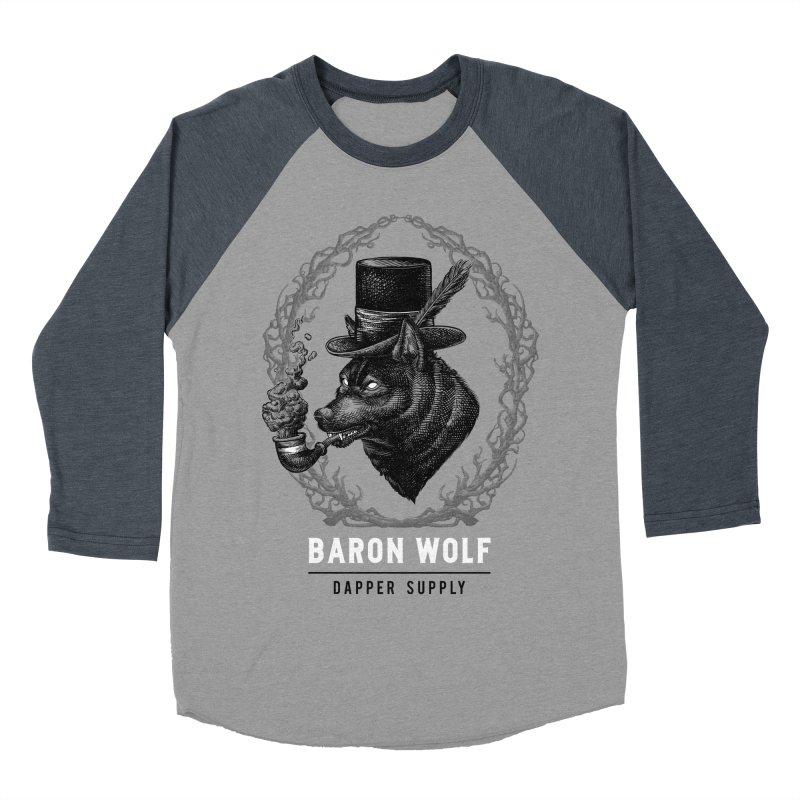 BARON WOLF DAPPER SUPPLY Men's Baseball Triblend T-Shirt by Baron Wolf Creative