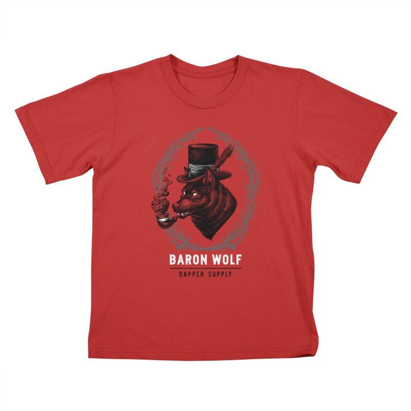 BARON WOLF DAPPER SUPPLY Kids T-Shirt by Baron Wolf Creative
