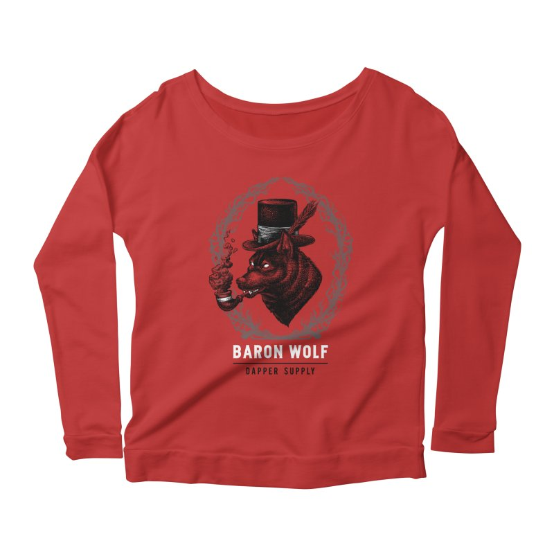 BARON WOLF DAPPER SUPPLY Women's Scoop Neck Longsleeve T-Shirt by Baron Wolf Creative