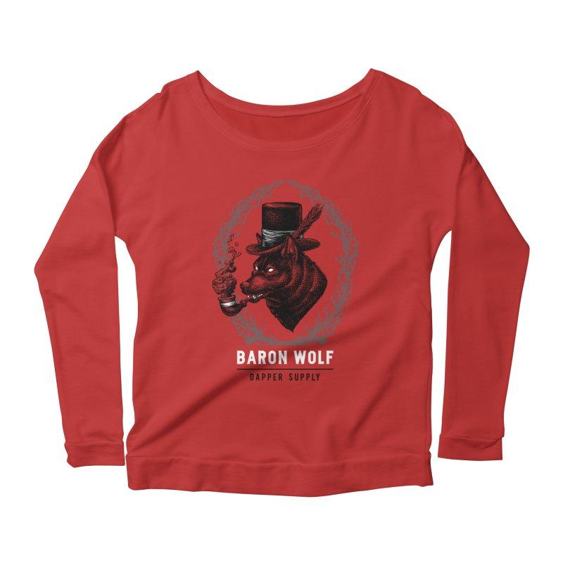 BARON WOLF DAPPER SUPPLY Women's Longsleeve Scoopneck  by Baron Wolf Creative