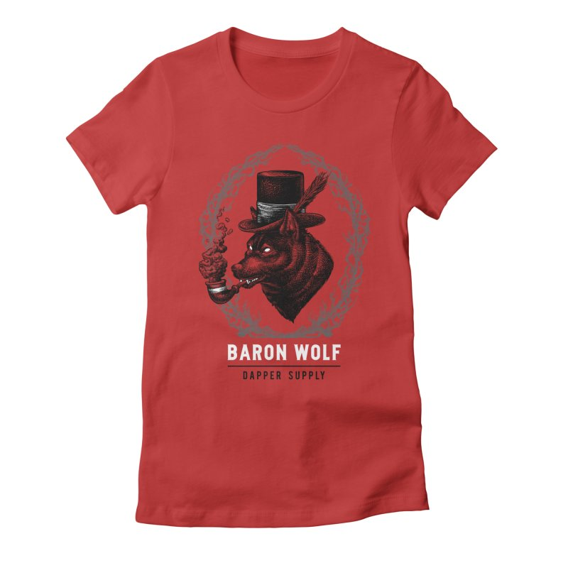BARON WOLF DAPPER SUPPLY Women's Fitted T-Shirt by Baron Wolf Creative