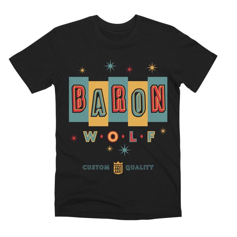 BARON WOLF RETRO Men's Premium T-Shirt by Baron Wolf Creative