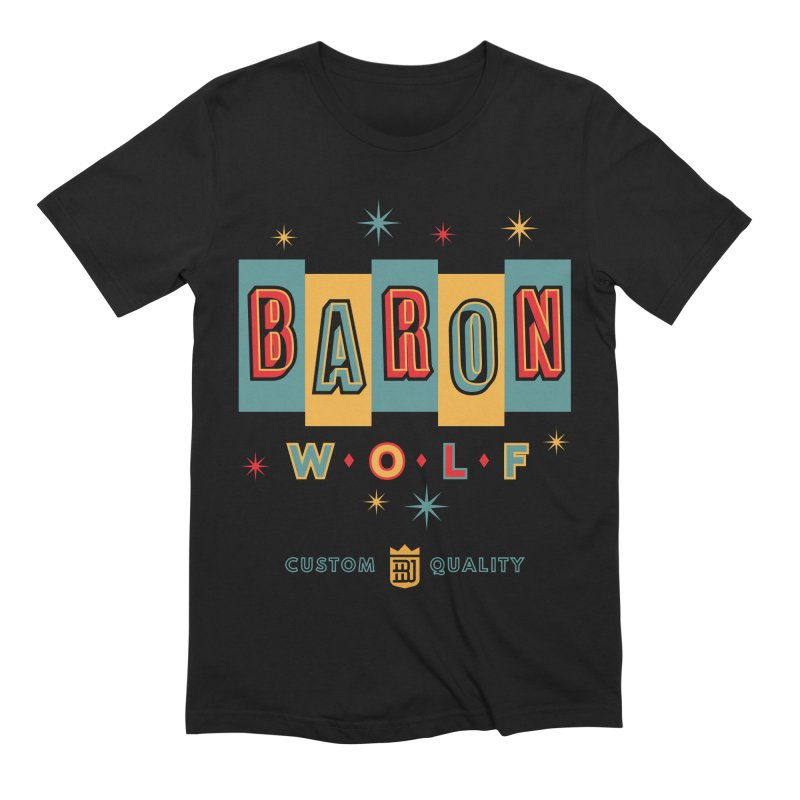 BARON WOLF RETRO Men's Extra Soft T-Shirt by Baron Wolf Creative