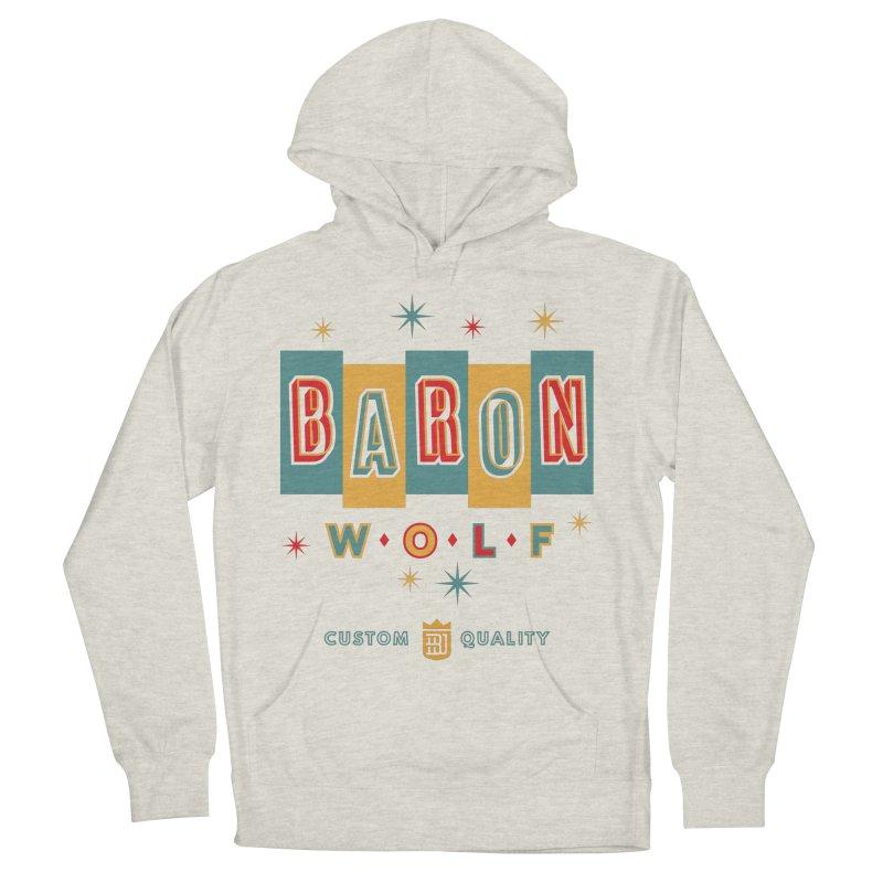 BARON WOLF RETRO Men's Pullover Hoody by Baron Wolf Creative