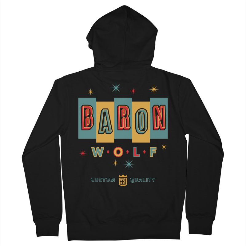 BARON WOLF RETRO Women's French Terry Zip-Up Hoody by Baron Wolf Creative