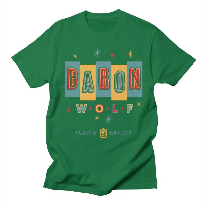 BARON WOLF RETRO Men's T-Shirt by Baron Wolf Creative