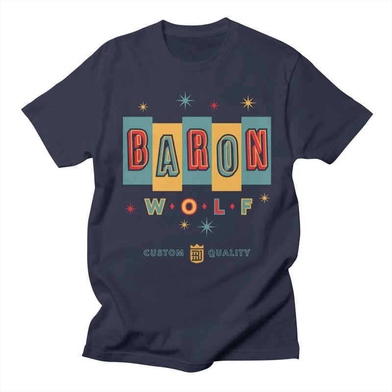 BARON WOLF RETRO Men's T-shirt by Baron Wolf Creative