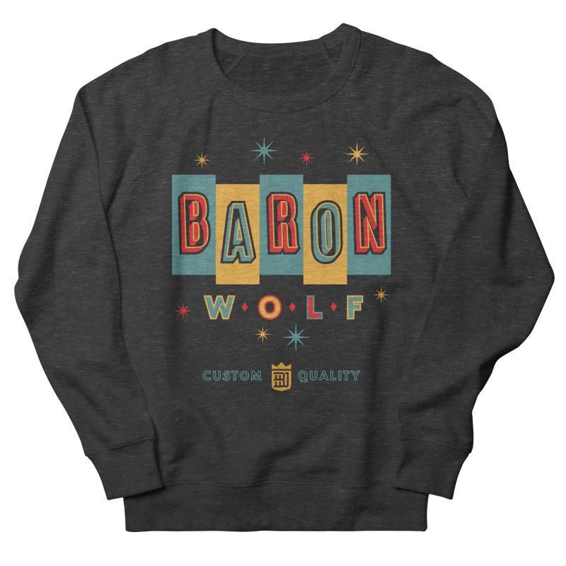BARON WOLF RETRO Women's French Terry Sweatshirt by Baron Wolf Creative