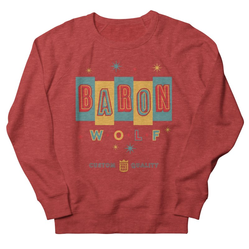 BARON WOLF RETRO Men's Sweatshirt by Baron Wolf Creative