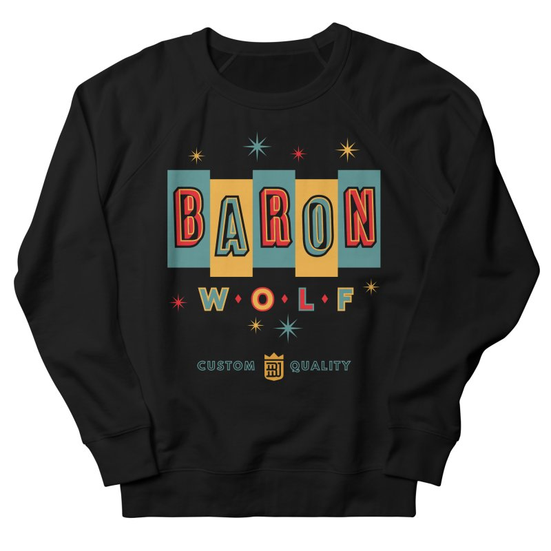 BARON WOLF RETRO Men's French Terry Sweatshirt by Baron Wolf Creative
