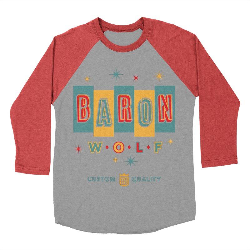 BARON WOLF RETRO Women's Baseball Triblend Longsleeve T-Shirt by Baron Wolf Creative