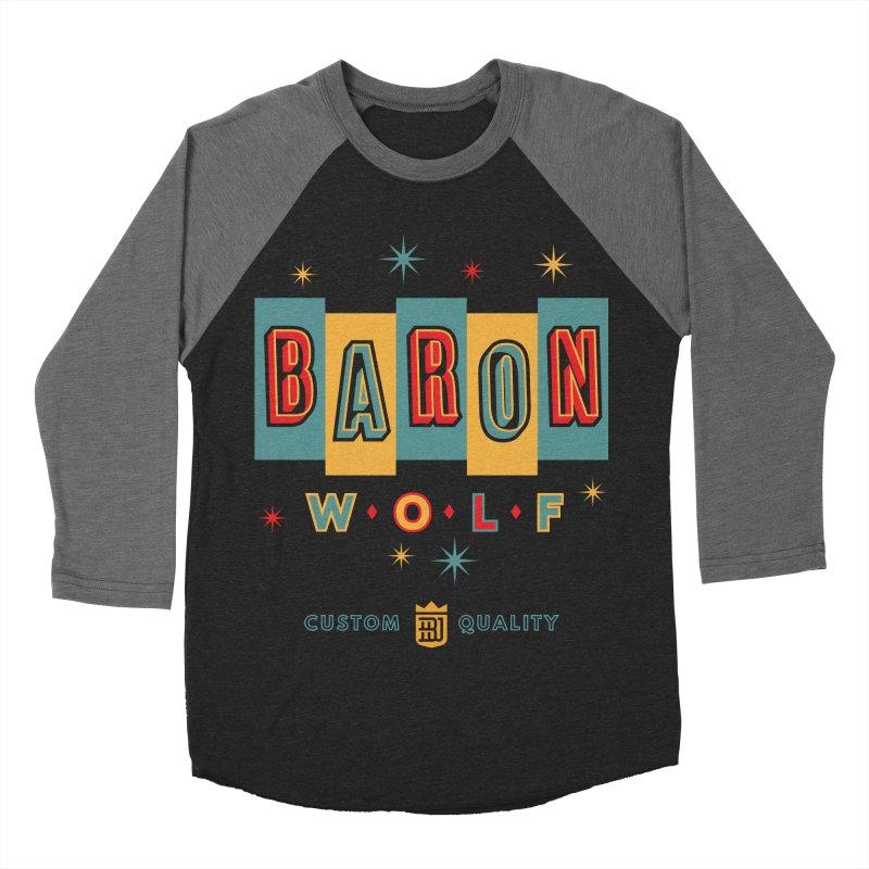 BARON WOLF RETRO Men's Baseball Triblend T-Shirt by Baron Wolf Creative