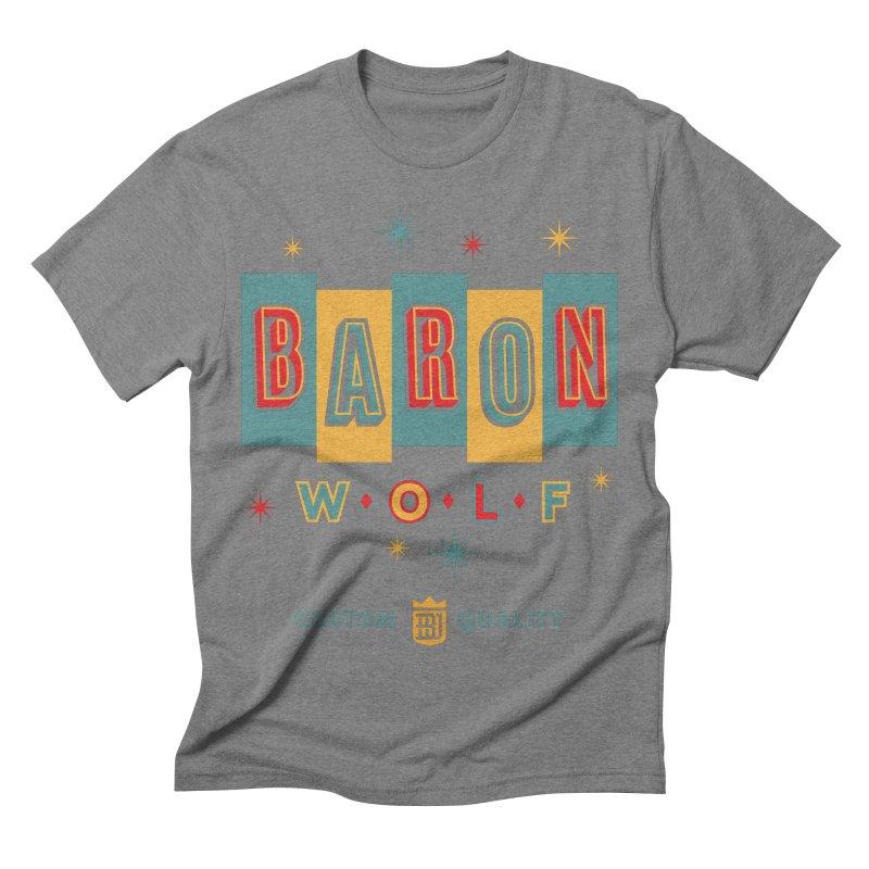 BARON WOLF RETRO Men's Triblend T-shirt by Baron Wolf Creative