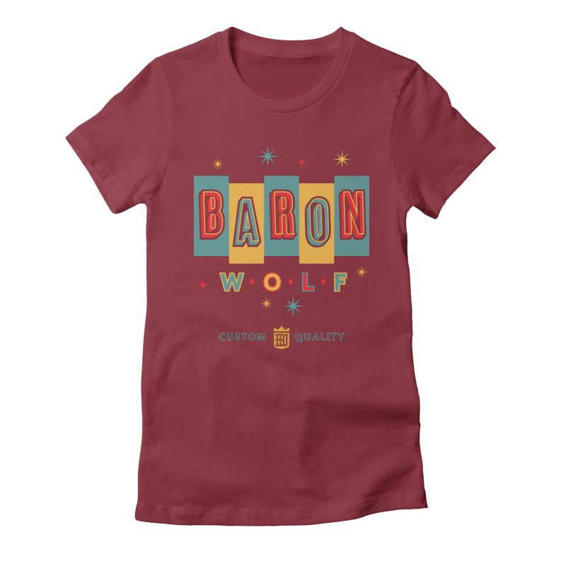 BARON WOLF RETRO Women's Fitted T-Shirt by Baron Wolf Creative