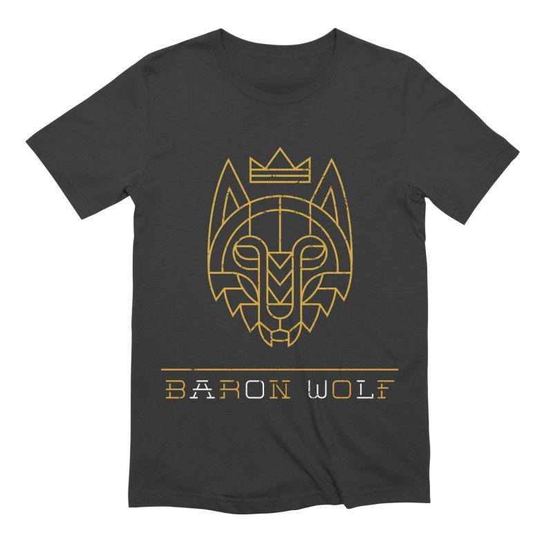 BARON WOLF LOGO Men's Extra Soft T-Shirt by Baron Wolf Creative