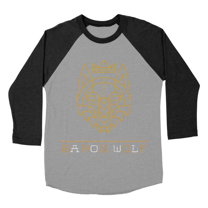 BARON WOLF LOGO Women's Baseball Triblend Longsleeve T-Shirt by Baron Wolf Creative