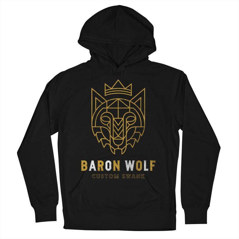 BARON WOLF LOGO Men's French Terry Pullover Hoody by Baron Wolf Creative
