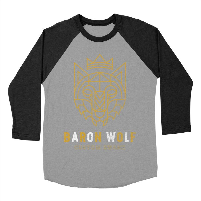 BARON WOLF LOGO Women's Baseball Triblend T-Shirt by Baron Wolf Creative