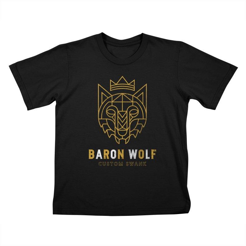 BARON WOLF LOGO Kids T-Shirt by Baron Wolf Creative