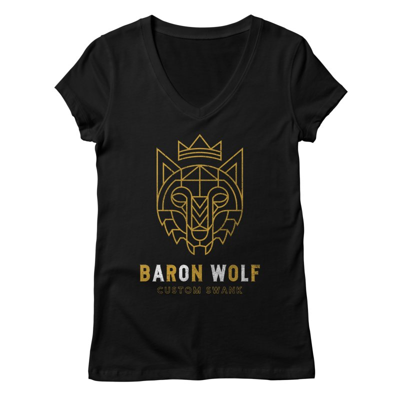 BARON WOLF LOGO Women's V-Neck by Baron Wolf Creative