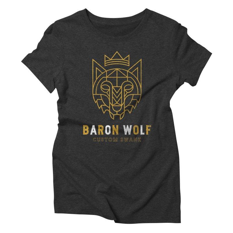 BARON WOLF LOGO Women's Triblend T-shirt by Baron Wolf Creative