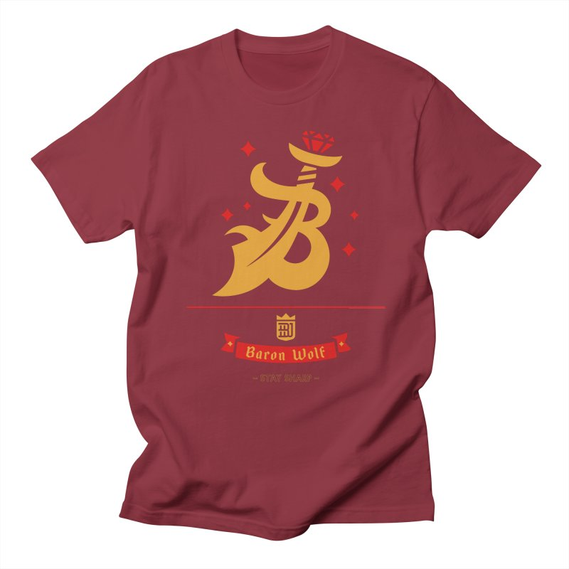 BARON WOLF SCIMITAR Men's T-Shirt by Baron Wolf Creative