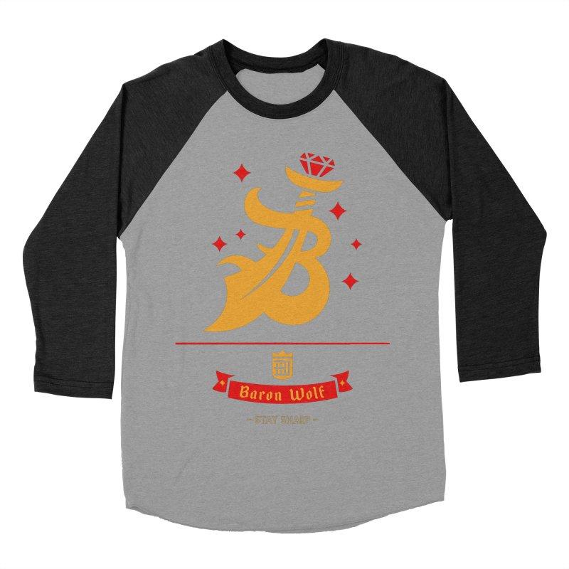 BARON WOLF SCIMITAR Women's Baseball Triblend T-Shirt by Baron Wolf Creative