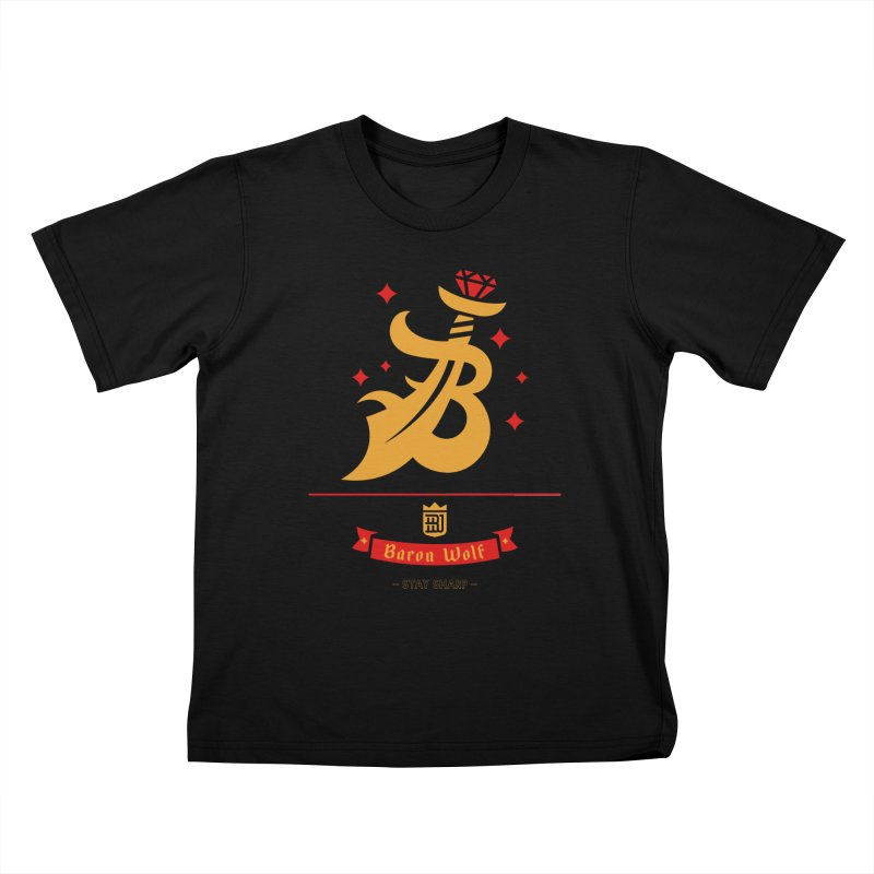 BARON WOLF SCIMITAR Kids T-shirt by Baron Wolf Creative