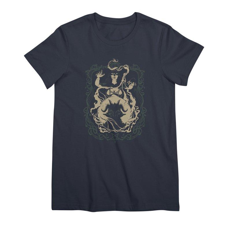 CRYSTAL BALL Women's Premium T-Shirt by Baron Wolf Creative