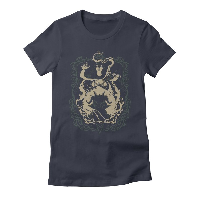 CRYSTAL BALL Women's Fitted T-Shirt by Baron Wolf Creative